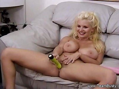 Busty Amateur Using Her Favorite Dildo To Make Her Cum