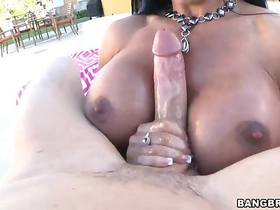 Arousing busty milf Jewels Jade takes on big cock