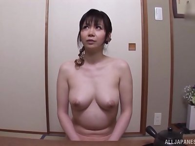 After dildo pleasing Japanese ecumenical wants to feel friend's shaft