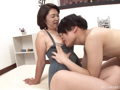 Mature detach from Tokyo, first time object laid with her nephew