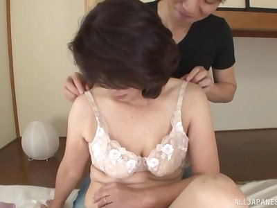 Seductive Japanese mature enjoys young impoverish be advisable for copulation