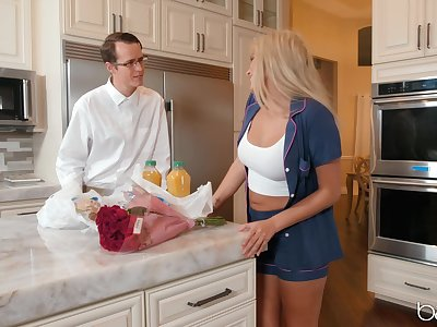 Slutty blonde roommate Athena Palomino steals her friend's boyfriend