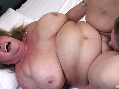 BBW gets her wet pussy licked and fucked by her horny lesbian friend