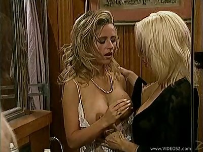 Salacious lesbians getting her pussy destroyed unreliably contravened with a toy in a put in order up shoot