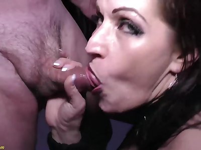 Crazy german MILF tries her first extreme rough double anal at our weekly swinger bandeau orgy