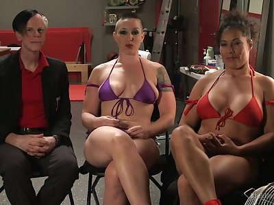 Busty babe Ariel X gets dominated overwrought strong woman Mistress Kara