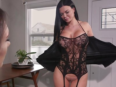 Hot MILF loves to shot a pussy grinding on her feature and she loves strap-on sex