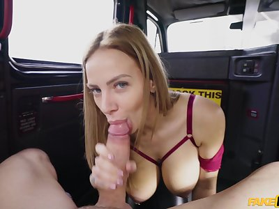 Back seat porn with a married cooky with huge tits